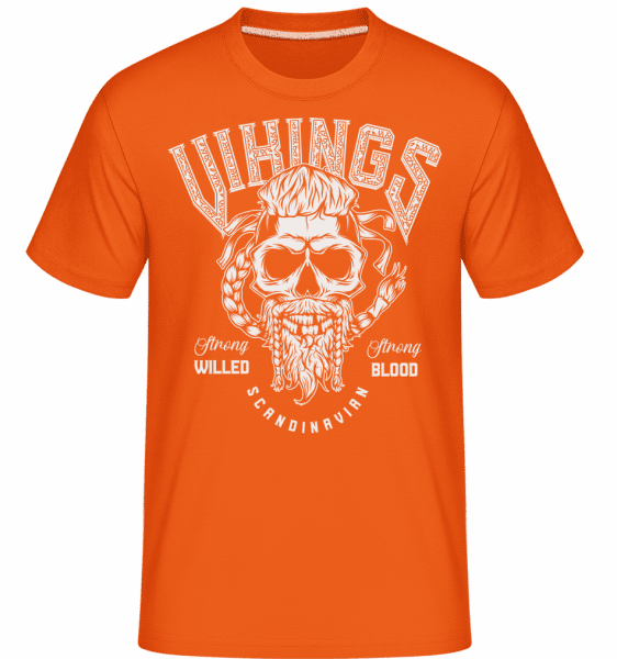 Vikings Scandinavian -  Shirtinator Men's T-Shirt - Orange - Front