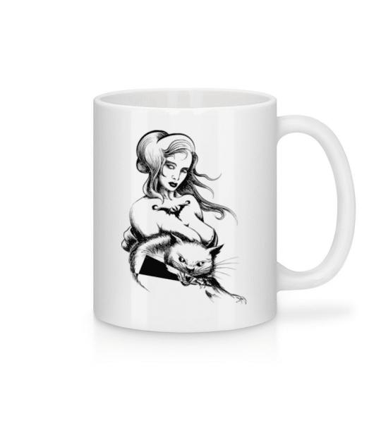 Gothic Cat Wife - Mug - White - Front