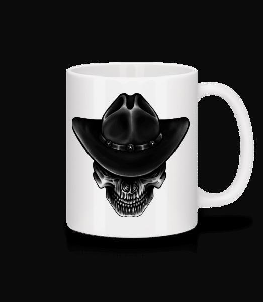 Cowboy Totenkopf - Tasse - Weiß - Vorn