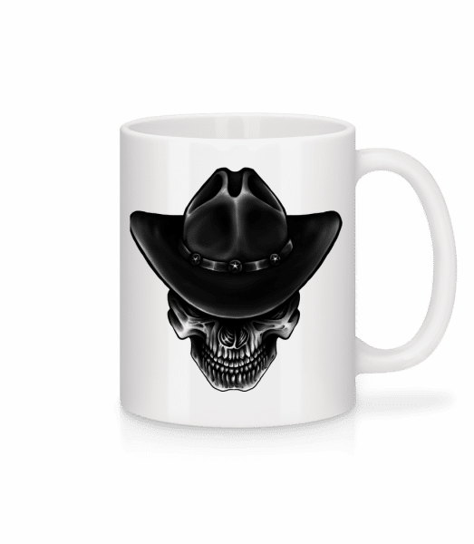 Cowboy Skull - Mug - White - Vorn