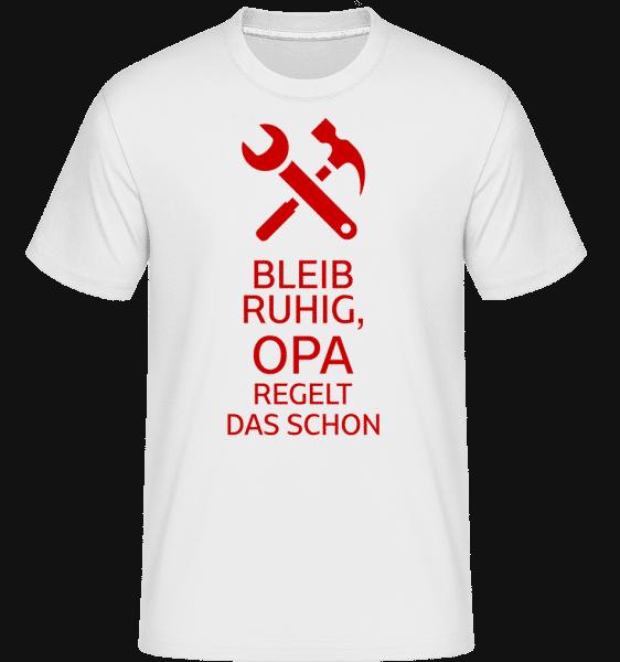 Bleib Ruhig Opa Regelt Das - Shirtinator Männer T-Shirt - Weiß - Vorn