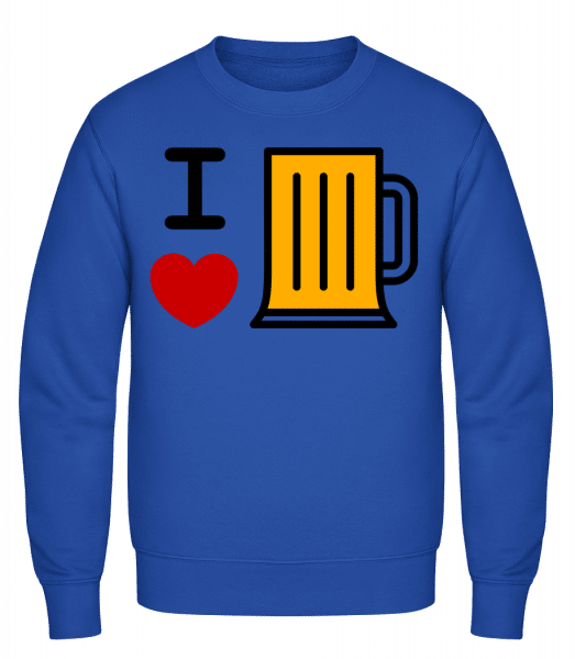 I Love Beer - Classic Set-In Sweatshirt - Royal Blue - Vorn