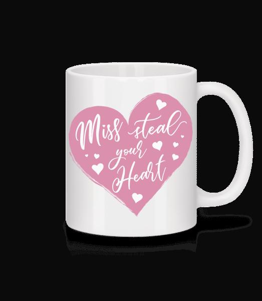 Miss Steal Your Heart - Keramický hrnek - Bílá - Napřed