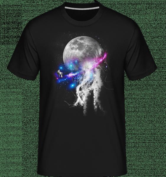 Astronaut A Galaxy -  Shirtinator tričko pro pány - Černá - Napřed