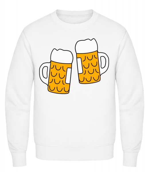 Two Beer - Classic Set-In Sweatshirt - White - Vorn