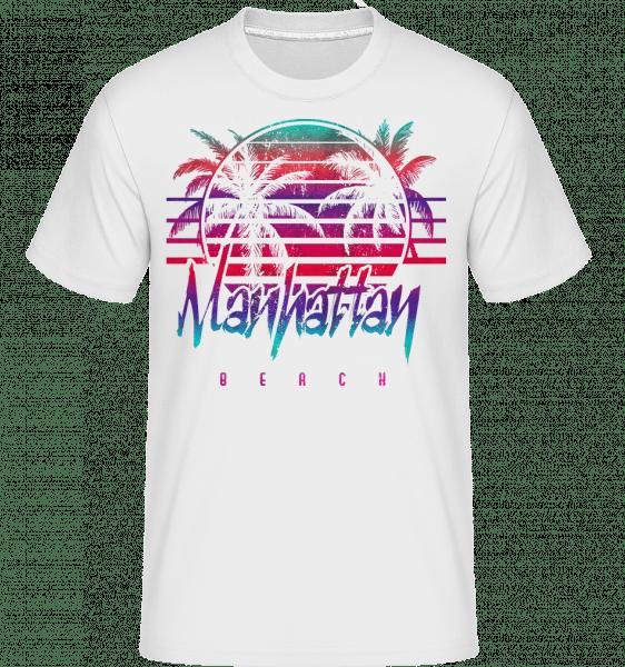 Manhattan Beach -  Shirtinator Men's T-Shirt - White - Vorn