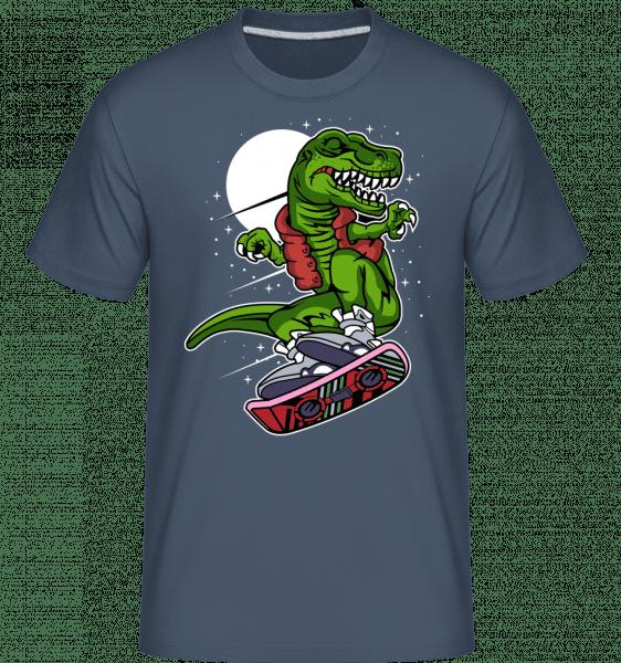 Trex Marty -  Shirtinator Men's T-Shirt - Denim - Vorn