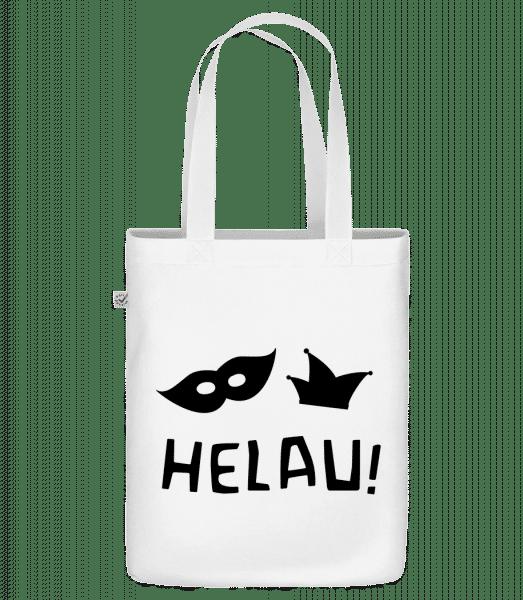"Helau! Black - Organic ""Earth Positive"" tote bag - White - Vorn"