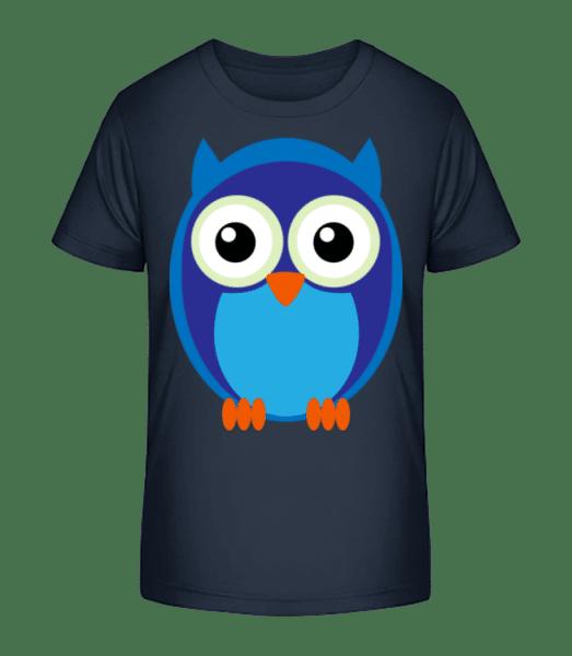 Kids Owl Blue - T-shirt bio Premium Enfant - Bleu marine - Vorn