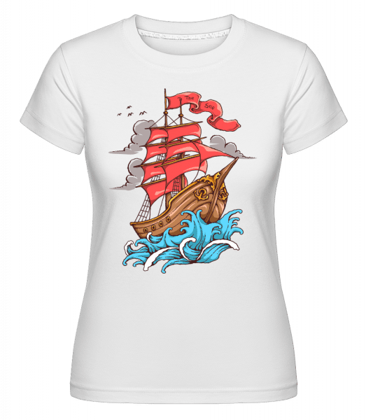 Ship Sail To The Sea -  Shirtinator Women's T-Shirt - White - Vorn