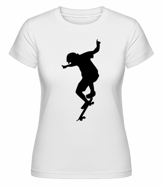 Skater Boy -  Shirtinator Women's T-Shirt - White - Vorn
