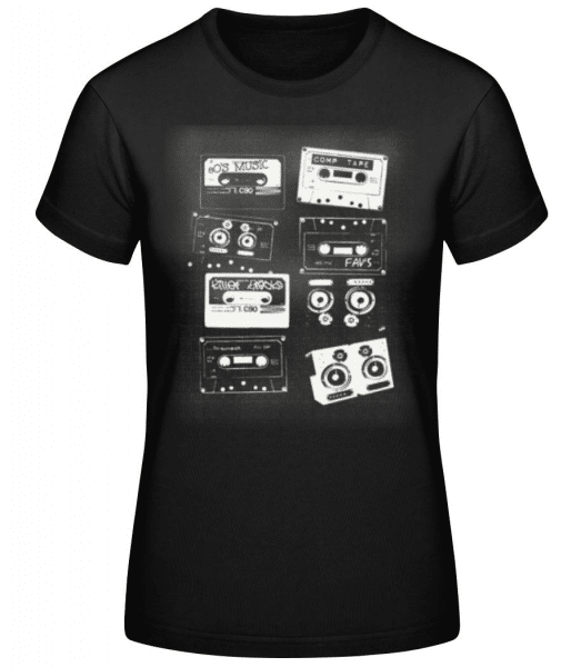 Old Cassettes - Women's Basic T-Shirt - Black - Front