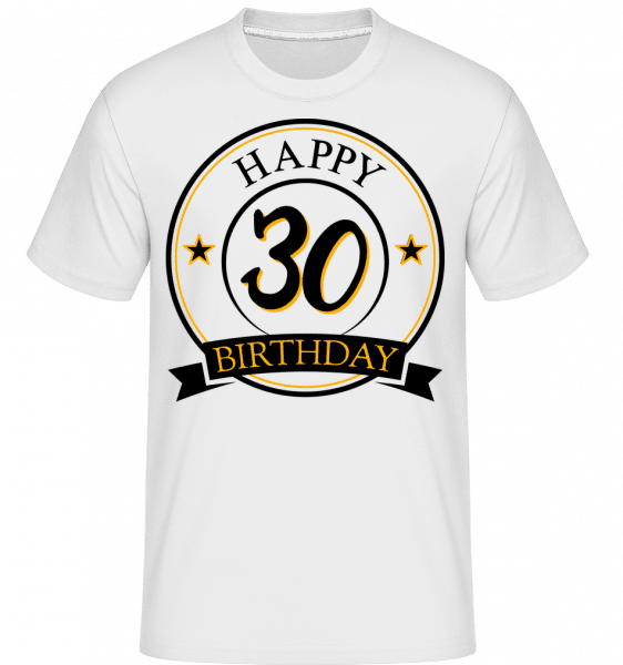 Happy Birthday 30 -  Shirtinator Men's T-Shirt - White - Vorn