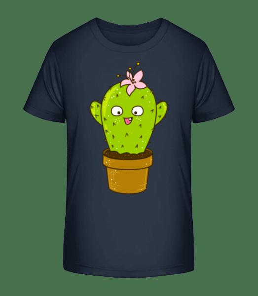 Funny Cactus - Detské Premium Bio tričko - Namořnická modrá - Napřed