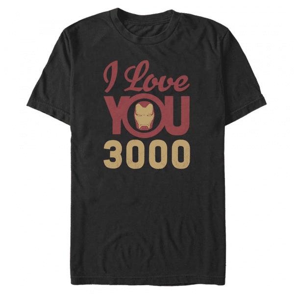 3000 Icon Face Iron Man - Marvel Avengers Endgame - Men's T-Shirt - Black - Front