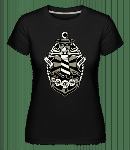Lighthouse - Shirtinator Frauen T-Shirt - Schwarz - Vorn