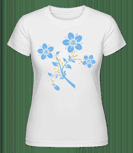 Flower Comic -  Shirtinator tričko pre dámy - Biela - Predné