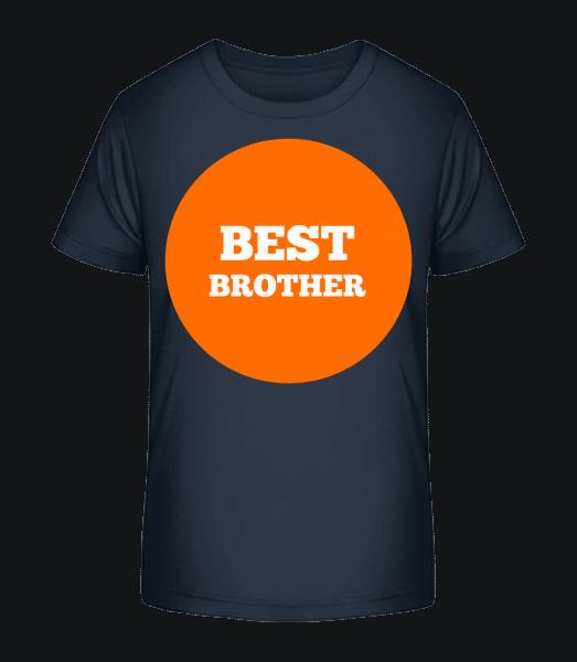Best Brother - Kid's Premium Bio T-Shirt - Navy - Vorn