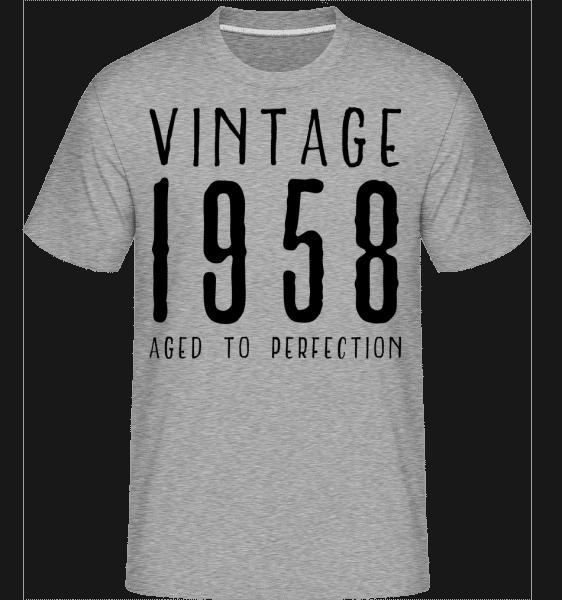 Vintage 1958 Aged To Perfection -  Shirtinator Men's T-Shirt - Heather grey - Vorn