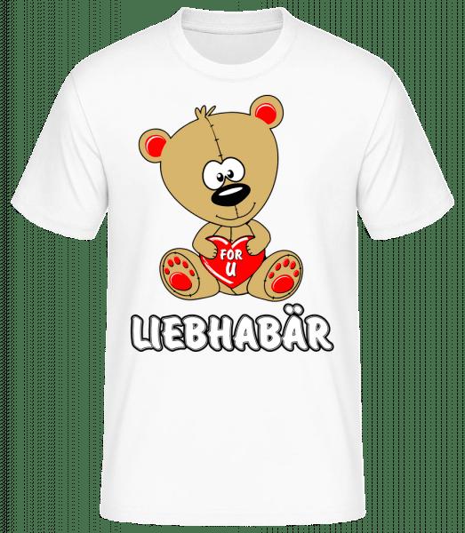 Liebhabär - Männer Basic T-Shirt - Weiß - Vorn