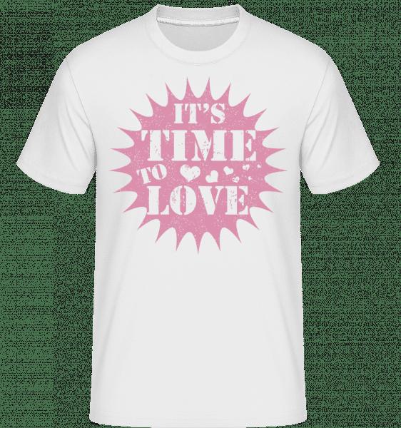 Je čas lásky -  Shirtinator tričko pre pánov - Biela - Predné