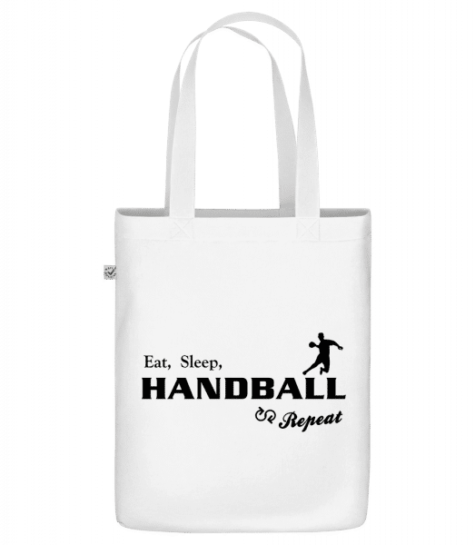 "Eat, Sleep, Handball & Repeat - Organic ""Earth Positive"" tote bag - White - Vorn"