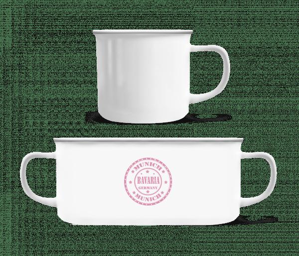 Munich Bavaria - Enamel-cup - White - Vorn
