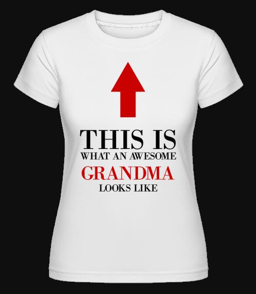 úžasné babička -  Shirtinator tričko pre dámy - Biela - Predné