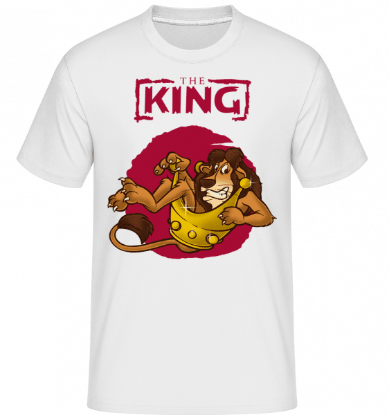 The King -  Shirtinator Men's T-Shirt - White - Vorn