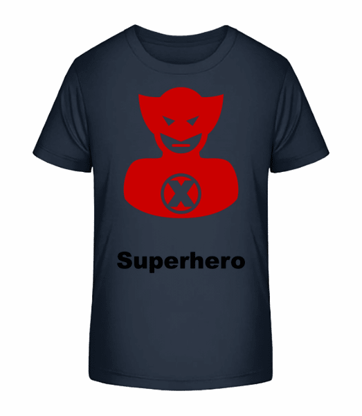 Superhero Icon Red - T-shirt bio Premium Enfant - Bleu marine - Vorn