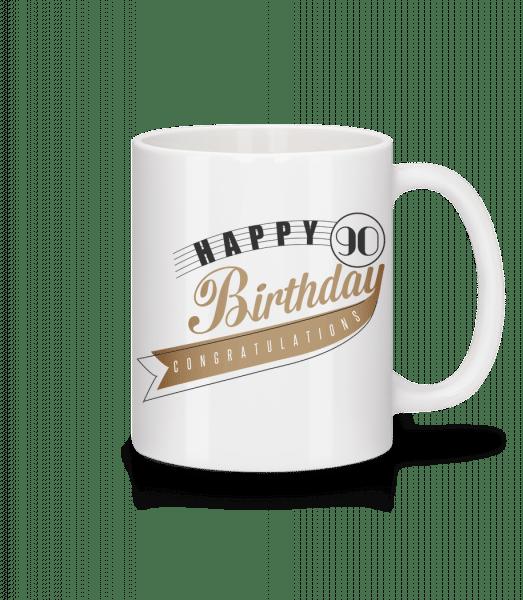 Happy 90 Birthday - Mug - White - Vorn