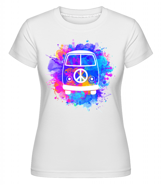 Hippie Bus -  Shirtinator Women's T-Shirt - White - Vorn