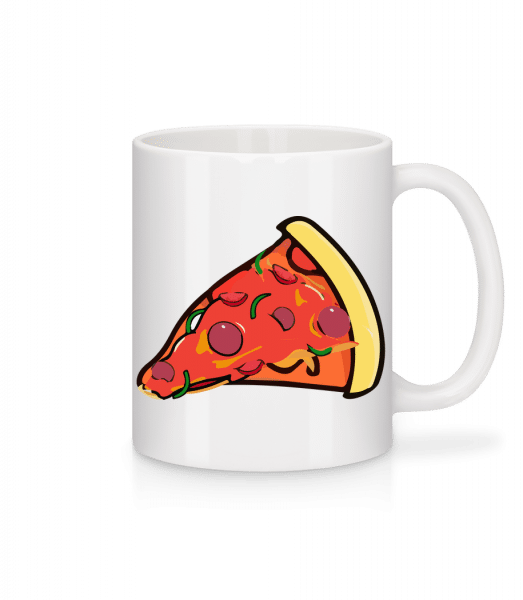 Pizza Slice - Mug - White - Vorn