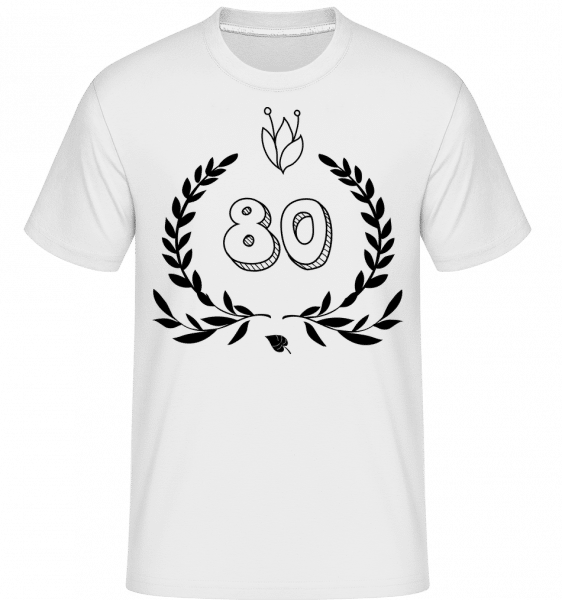 80s Birthday -  Shirtinator Men's T-Shirt - White - Vorn