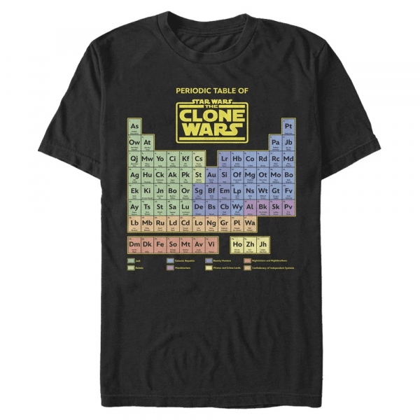 Clone Wars Table - Star Wars Clone Wars - Men's T-Shirt - Black - Front
