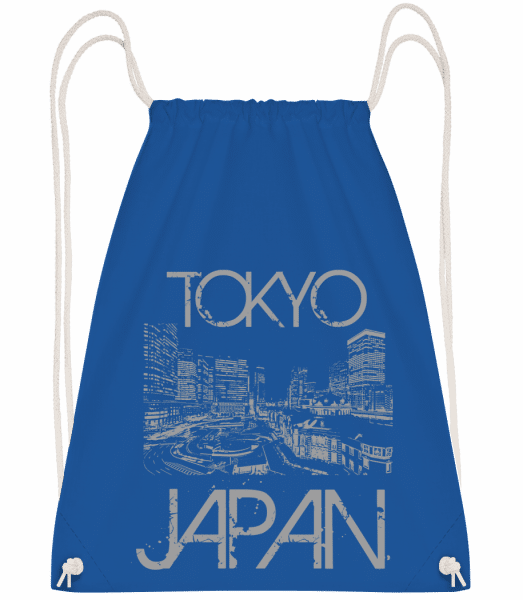 Tokyo Japan - Turnbeutel - Royalblau - Vorn