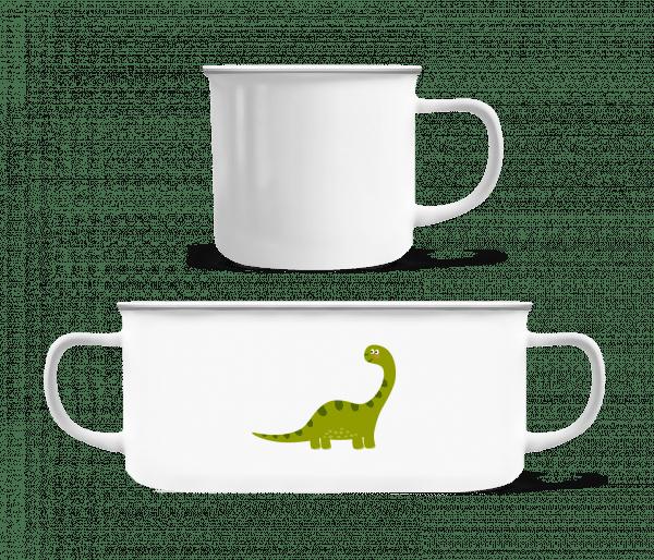 Sauropoden - Enamel-cup - White - Vorn