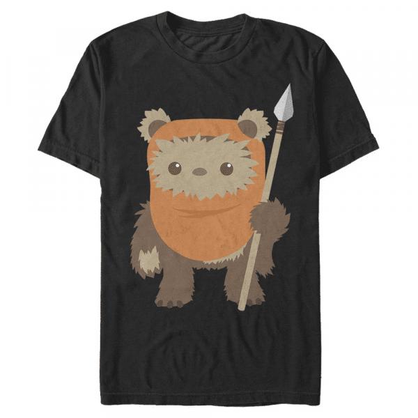 Ewok Spear - Star Wars - Men's T-Shirt - Black - Front