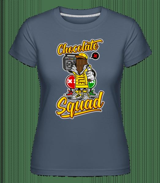 Chocolate Squad -  Shirtinator Women's T-Shirt - Denim - Vorn