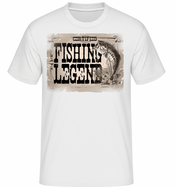 Fishing Legend -  Shirtinator Men's T-Shirt - White - Vorn