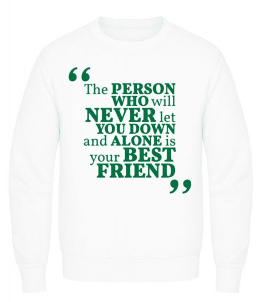 Your Best Friend - Men's Sweatshirt - White - Front
