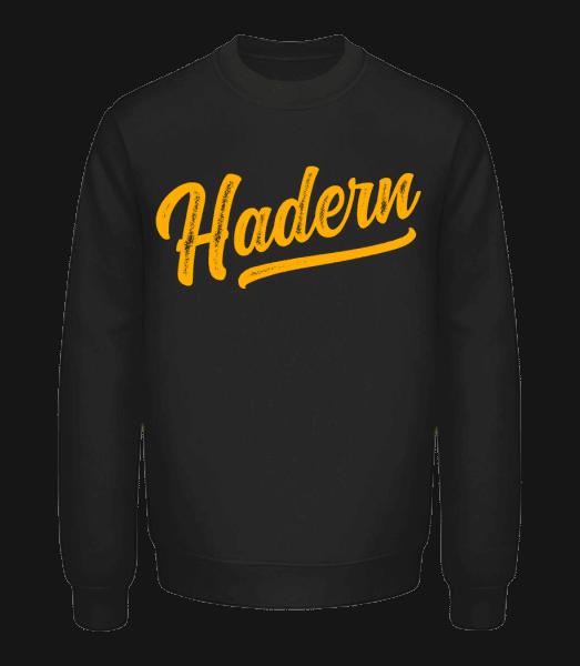 Hadern Swoosh - Unisex Pullover - Schwarz - Vorn