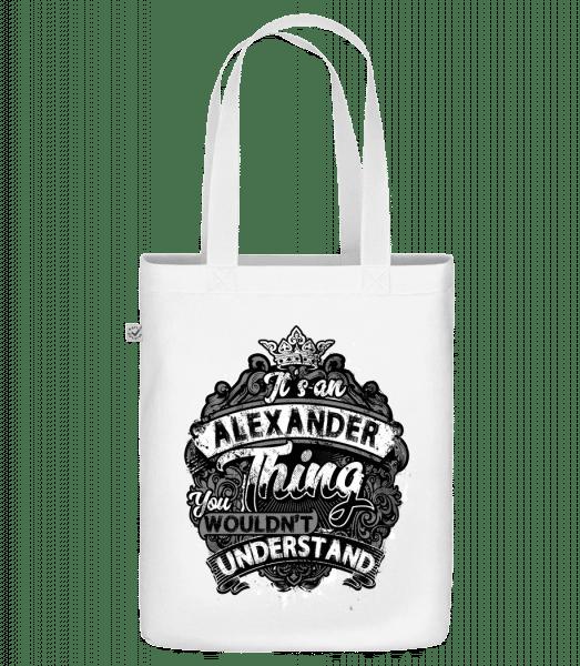 """Jeho Alexander Thing - Organická taška """"Earth Positive"""" - Biela - Predné"""