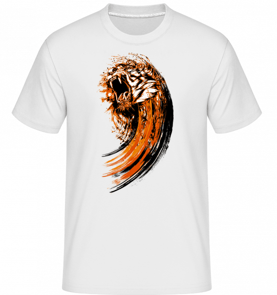 Roaring Tiger -  Shirtinator Men's T-Shirt - White - Vorn