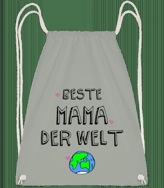 Beste Mama Der Welt - Turnbeutel - Anthrazit - Vorn