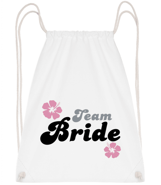 Team Bride - Drawstring Backpack - White - Vorn