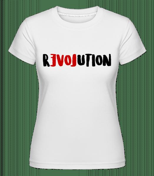 Revoluce -  Shirtinator tričko pro dámy - Bílá - Napřed