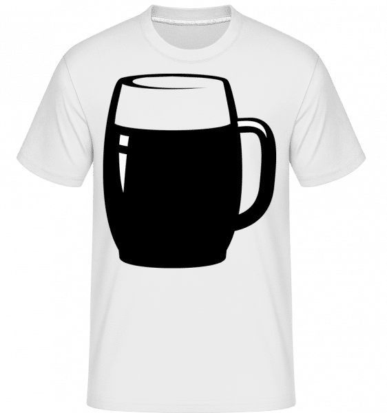 Beer Glass Black/White -  T-Shirt Shirtinator homme - Blanc - Vorn