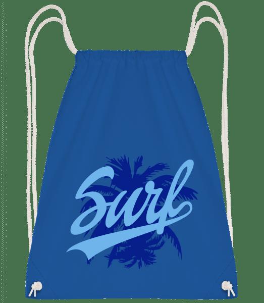 Surf Icon Blue - Drawstring Backpack - Royal blue - Vorn