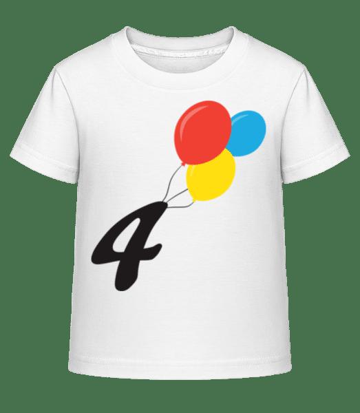 Anniversary 4 Balloons - Kid's Shirtinator T-Shirt - White - Front